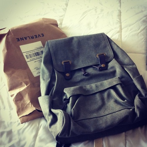 So excited to use my new @everlane backpack Monday! (Taken with Instagram)