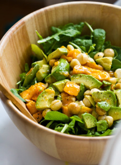 beautifulpicturesofhealthyfood:  Arugula salad, Mango, Macadamia, Avocado…RECIPE
