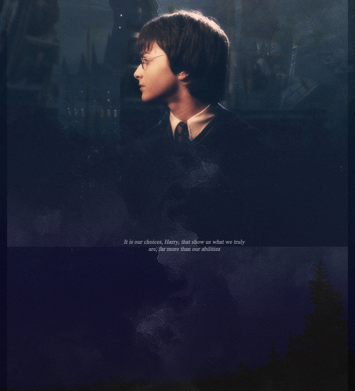 "-jamessirius:  HP MEME: Eight Quotes. [2/8]   ""It is our choices, Harry, that show us what we truly are, far more than our abilities."" (CoS)"