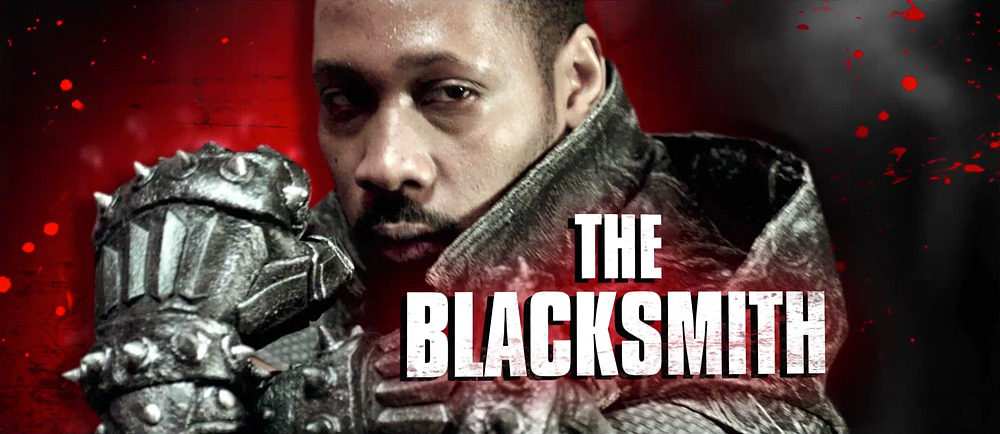 "RZA as ""The Blacksmith"" in his kung fu directorial debut, The Man with the Iron Fists. Badass! From the latest trailer: http://onfs.net/R7vUa4"