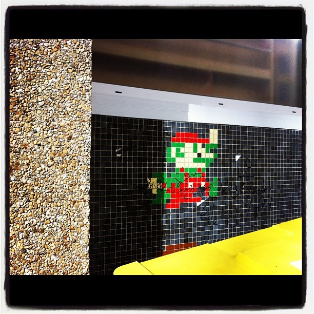 wilwheaton:  soupsoup:  Taken with Instagram at Rue Traversiere  8-bit artwork outside of video games is rapidly climbing my personal Kryptonite list.