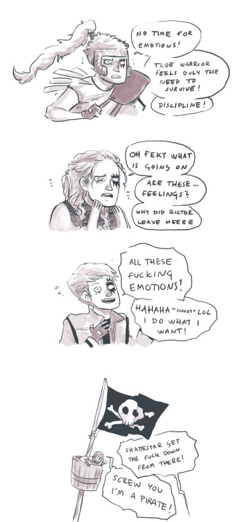 A quick evolution of Shatterstars emotional life. I love this guy so so much I can't even tell.