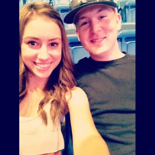 me and pete at the eric church concert! (Taken with Instagram at Mohegan Sun)