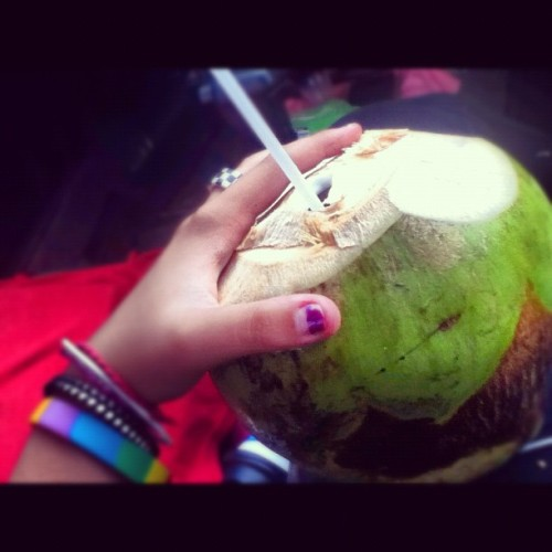 #coco #coconut #water #colors #straw  (Taken with Instagram)