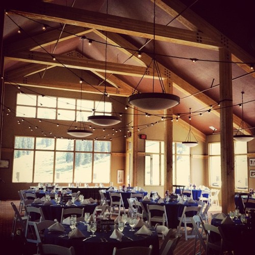 Inside the black mountain lodge. #sumco #wedding #venue #colorado #RockyMountains  (Taken with Instagram)
