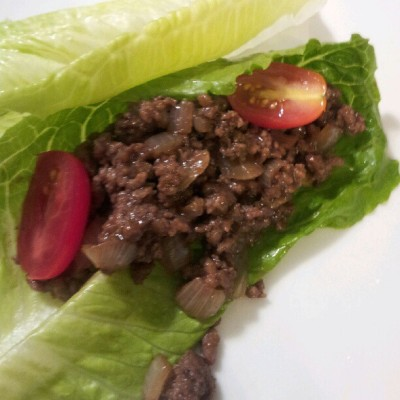 I made beef lettuce wraps!! #fire #yummy #healthy (Taken with Instagram)