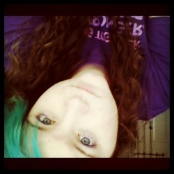 #blue #blueeyes #bluehair #curlyhair #sleepy #pale (Taken with Instagram)