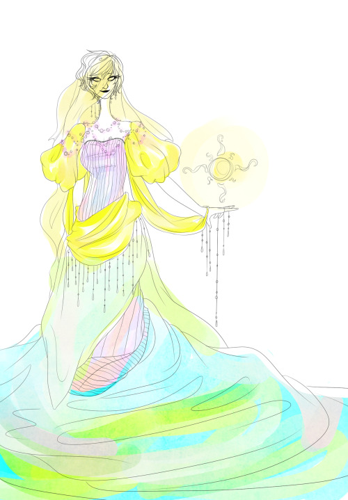 eldritch-heiress:  landtier sketch? yeah i wanted to draw rose in a dress