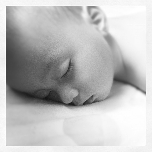 It's the little things that make this world go round'. #baby #sleeping #cute #black&white (Taken with Instagram)