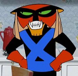 Tonight, I'm dressing as Brak for a costume party.