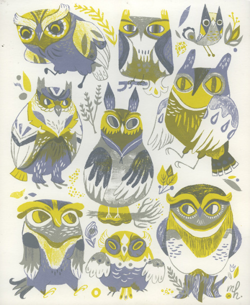 Hey guys— I just put my owl screenprint on sale— it's now just $20! If you've been eyeing it for a while, it's never been a more perfect time. Help me clear up some space and fund other print and product endeavors— I'm hoping to do another letterpress print soon!  Buy ithere!