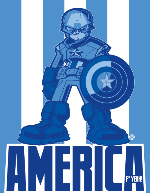 Fan art of the day: Captain America, Fuck Yeah!Each of the five Avengengers single character prints are an 8.5 x 11 Print on archival watercolor paper. Each Print is signed, numbered, & hand embossed with my double T logo. LIMITED TO ONLY 25 PRINTS. All 5 prints can be purchased on my site:http://tracytuberaart.bigcartel.comThanks for the time & keep up the RAD work on the site!TT