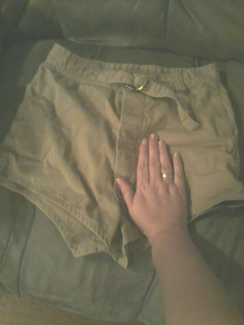 "These were the shorts the freaking United States Marine Corps had my husband wearing for the Zodiac course. My hand is there for size reference. My hubby? Is 6'1"". their PT SHORTS are longer than that. For a month, my husband walked around in those, a PT shirt, and boots. It was like being married to a stripper or Chippendale's dancer. This is NOT me complaining. God did he hate me though… heh heh heh."