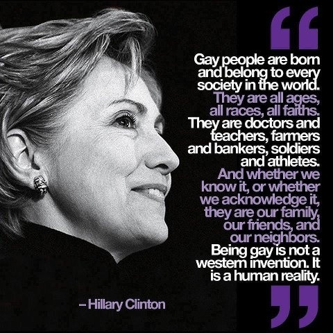 gaywrites:  In case anyone's forgotten how awesome Secretary of State Hillary Clinton is, remember this speech? Yeah.