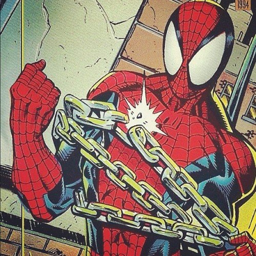 mikey-thrash:  #tradingcards #marvel #spiderman #amazingspiderman #comics #90s #1990s (Taken with Instagram)