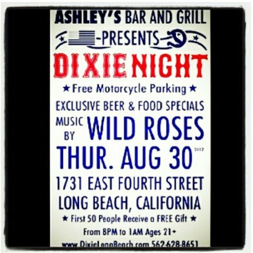 BE THERE! Spread the word! @dixielongbeach #dixie #dixielongbeach #longbeach #lb #chopper #bobber #caferacer #lonerangersmc  (Taken with Instagram)