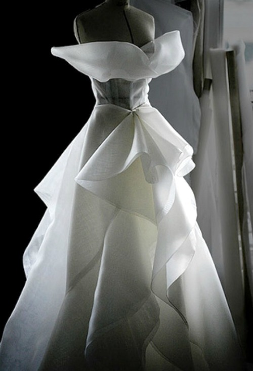 Toile look inside the atelier for Christian Dior haute couture f/w 2008