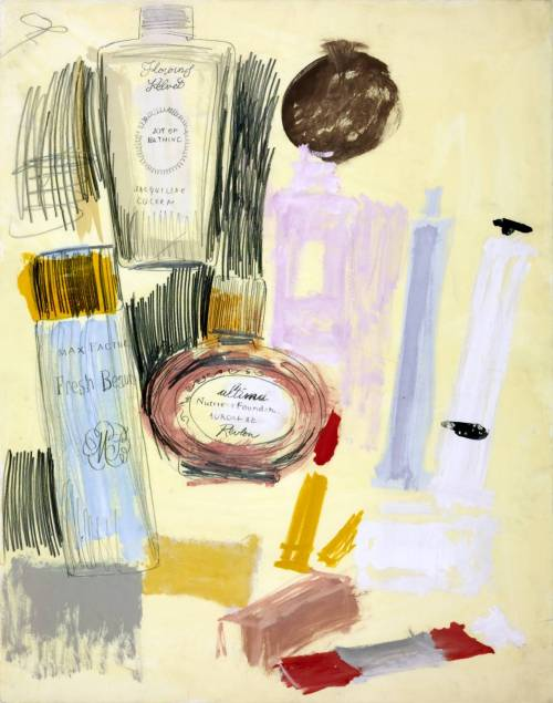 Andy Warhol - Untitled (Beauty Products), 1960. Gouache and pencil on paper