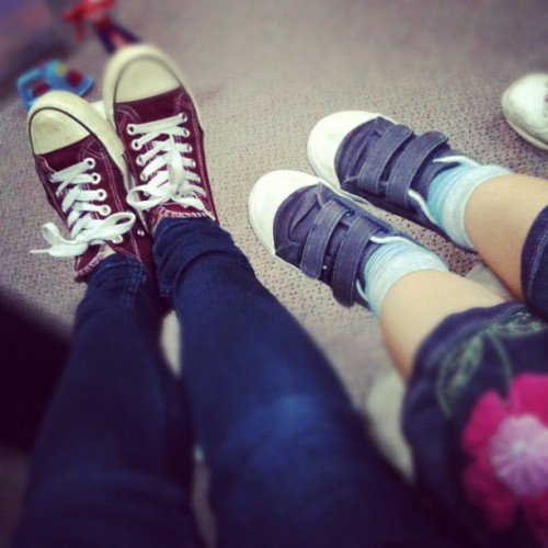 #love your #church #day:). #featuring miss Naarah and miss Elysia's #feet;) (Taken with Instagram)