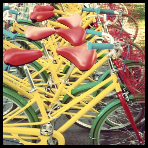 Gbikes ready for weekend R&R (Taken with Instagram at Googleplex - The Hub)