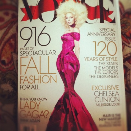 It's HERE! #Vogue #SeptemberIssue #LadyGaga #Fashion  (Taken with Instagram)