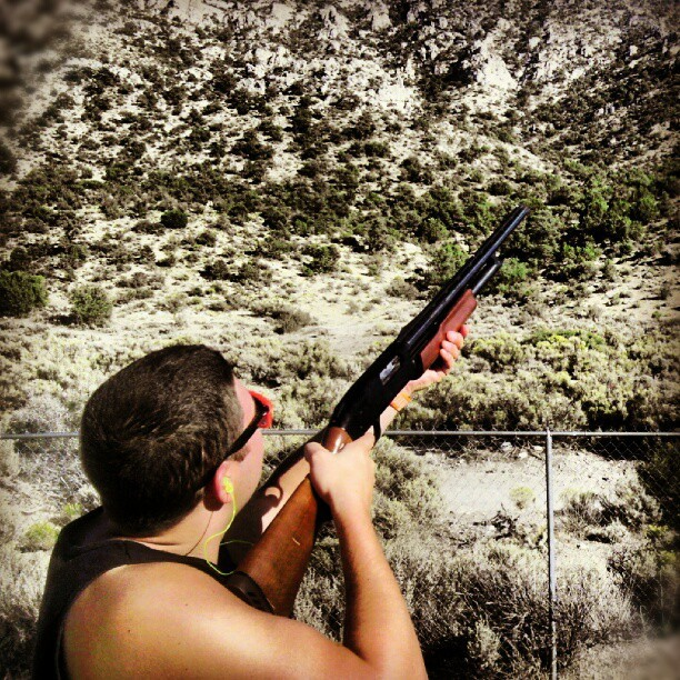 Doin man stuff in Vegas #manstuff #Vegas #shotgun (Taken with Instagram)