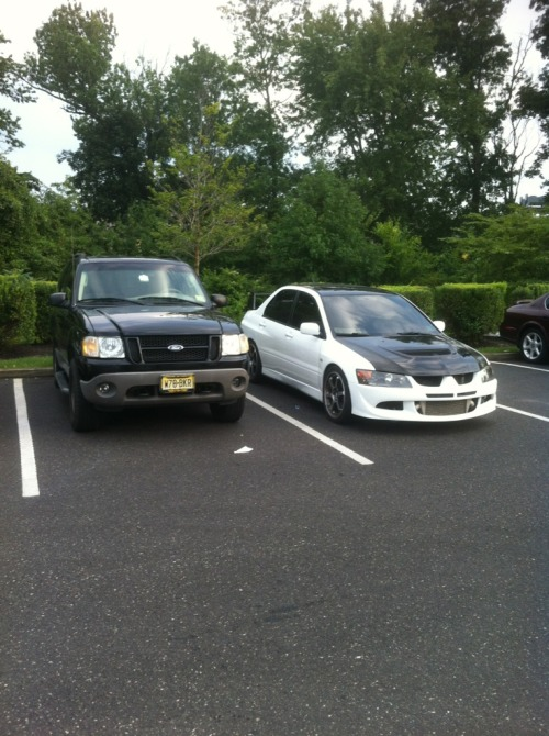 My friends car looks like a storm trooper, then theres mine that looks like shit haha