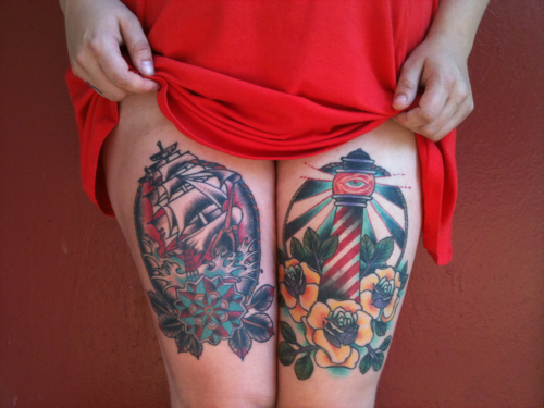 coreena: I love my thigh tattoos.