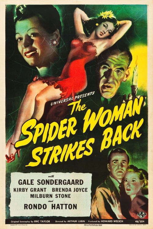 One sheet for The Spider Woman Strikes Back (1946)