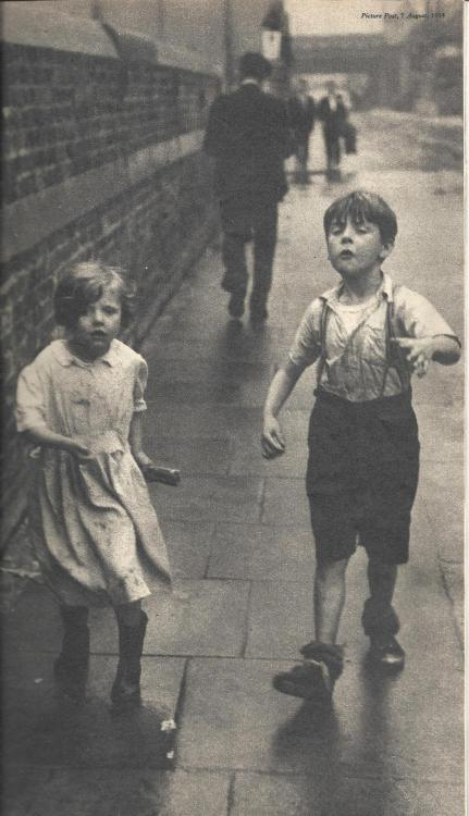 "London street kids. ""Picture Post"" August, 1954"