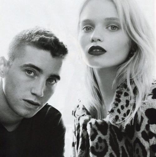 Abbey Lee & her brother; Vogue China, July 2012, with love.