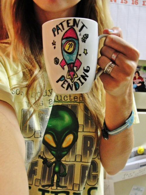delanibupp:  Homemade Patent Pending mug (that got messed up at the bottom)!