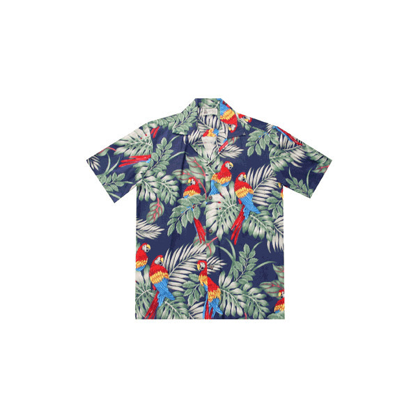 Parrot Republic Hawaiian Shirt   ❤ liked on Polyvore