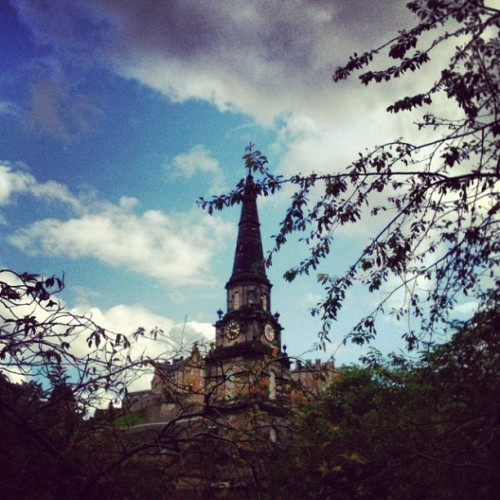 Church, Princes Street Gardens, Edinburgh #edinburgh #scotland #church #sky #historic #travel #uk (Taken with Instagram at Edinburgh, Scotland)