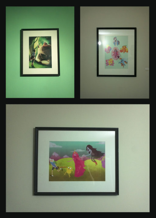 p0larity:  So I met shaburdies and her friend and bought some prints from them at AN. I finally got around to framing them.  wow these look badass in a frame! i'm so flattered! thank you for buying from me *_* :)!!! <3