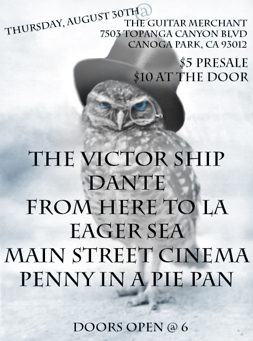 Made a flier for my band Dante using an owl with a monocle I found on tumblr haha  click the flier to go to our facebook ;)