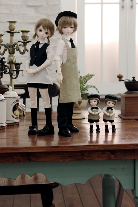 bluefairydolls:  『Today's special』Limited Edition. TF WS Louis V., Olive, Remmy and Jimmy.  They will be sold at the Sora*iro cafe.