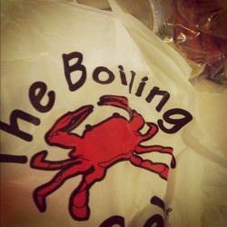 My first time EVER trying boiling crab & eating it with rice at home is soo good! I wanna eat in at the restaurant now! 😌 #loserwhohasnevertriedBCuntilnow #andIliveinSJ #smh (Taken with Instagram)