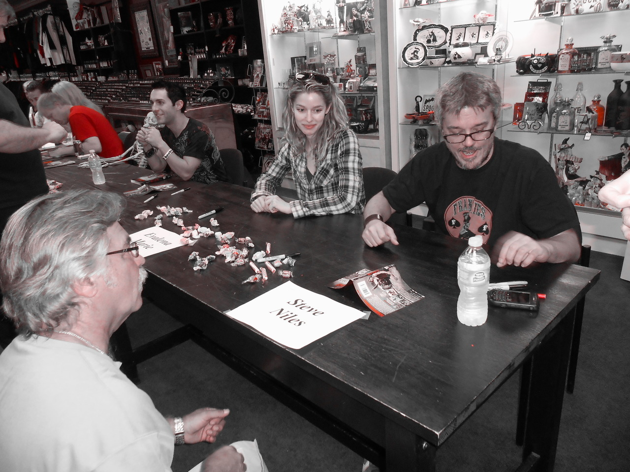 Steve Niles Signs Remains at Dark Delicacies with Miko Hughes and Evalena Marie… August 11th, 2012