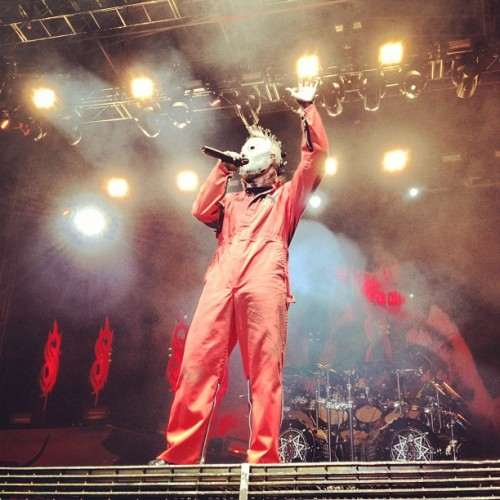 Corey live from Knotfest #slipknot #forthefans  (Taken with Instagram)