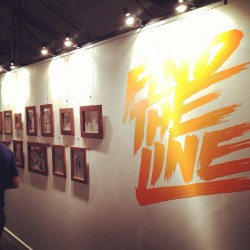 Find the Line @nemodesign. Packed crowd, amazing drawings. #pdx #events #nike #6.0 (Taken with Instagram)