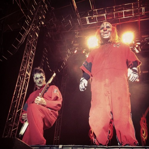 Jim & Clown live from Knotfest #slipknot #forthefans  (Taken with Instagram)