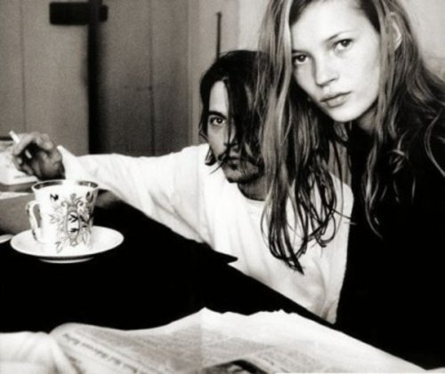 1000scientists:  Kate Moss and Johnny Depp in 1994