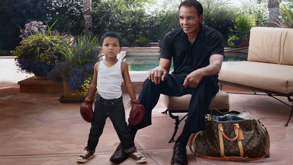 Muhammad Ali and grandson for Louis Vuitton