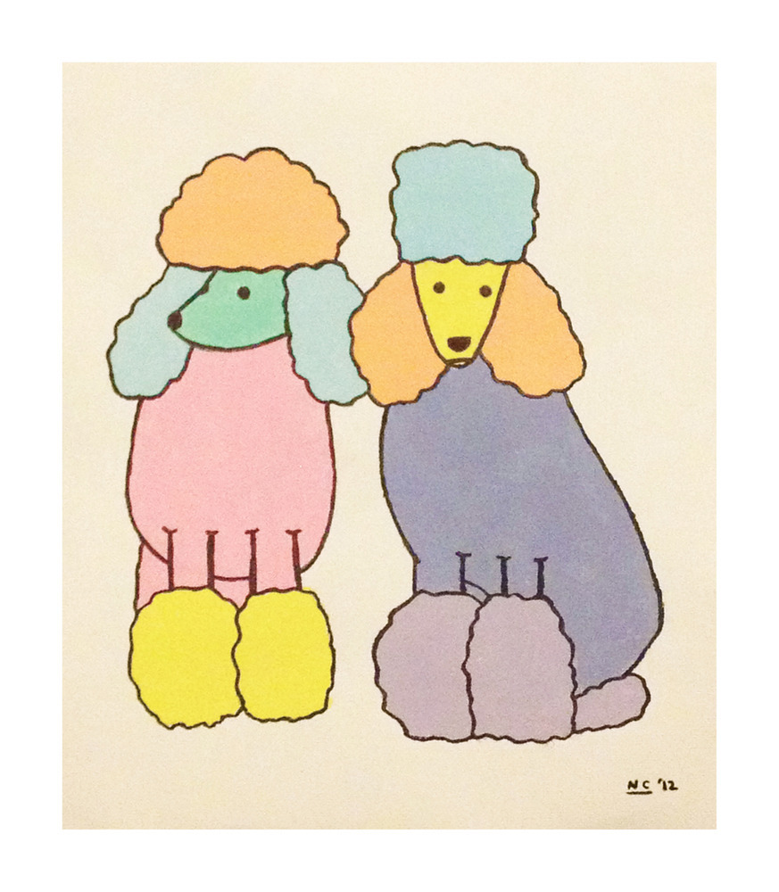 utbk:  love this super simple poodle painting by yippywhippy  <3