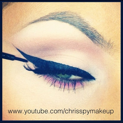 Just uploaded a new tutorial on winged eyeliner! www.youtube.com/chrisspymakeup (Taken with Instagram)