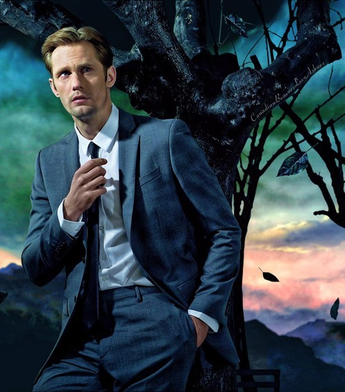 canadianbeaversloveaskars:  ….the incredible hotness of Alexander Skarsgard scorches the life out of another poor defenseless tree.