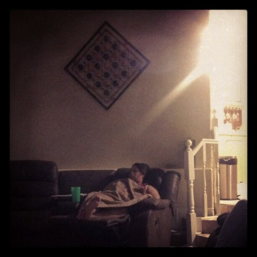 Paparazzi cam, my mom knocked all the way out! (Taken with Instagram)
