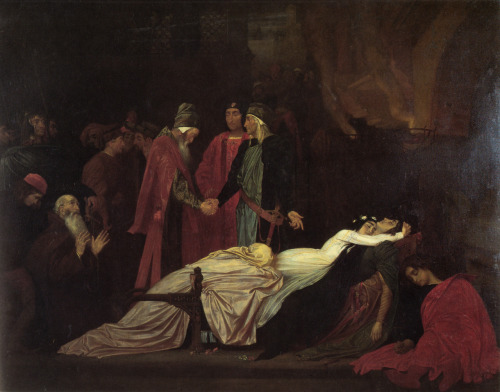 anguis218:  The Reconciliation of the Montagues and Capulets over the Dead Bodies of Romeo and Juliet (1855) by Lord Frederick Leighton