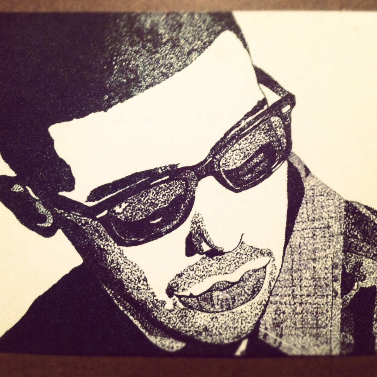 My Drake art work. :) Yes. Those are dots. All. Dots.